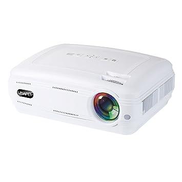 PowerLead U58 3200 lúmenes mini proyector LCD, Soporte 1080p HDMI USB VGA TF AV, proyector LED HD HD.