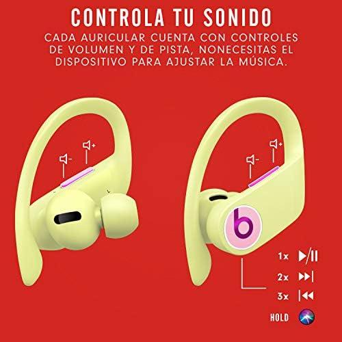 Powerbeats Pro - Auriculares intraurales inalámbricos - Chip Apple H1, Bluetooth de Clase 1, 9 horas de sonido ininterrumpido, resistentes al sudor - Amarillo Primavera: Amazon.es
