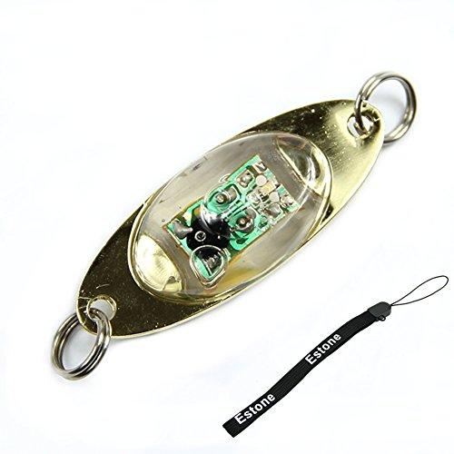 Estone LED Deep Drop Underwater Eye Shape Fishing Squid Fish