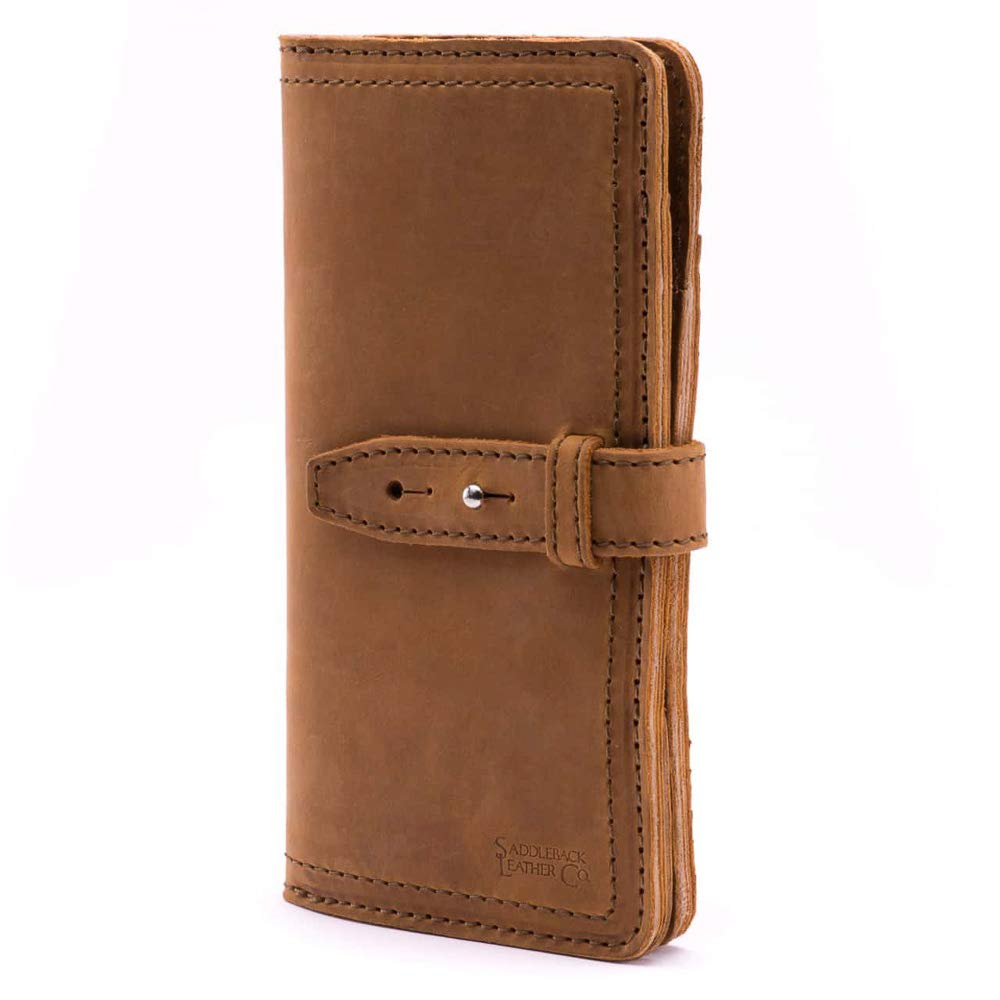 Saddleback Leather Co. Large Full Grain Leather Big Bifold ID Credit Card Wallet Organizer Includes 100 Year Warranty