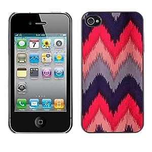 TopCaseStore / la caja del caucho duro de la cubierta de protección de la piel - Quilted Crocheted Fabric Design - Apple iPhone 4 / 4S
