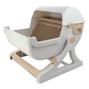 IFOYO Caja de Arena para Gatos, Caja de Arena semiautomática de Lujo para Gatos: Amazon.es: Productos para mascotas