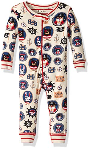 (Hatley Baby Boys Organic Cotton Sleeper, Pirate Portraits, 6-9 Months)