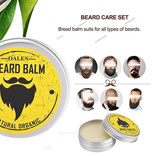 1 piece 30g Natural Organic Beard Conditioner Balm Moustache Wax for Beard Growth Shaping Moisturizing Beard Care Smooth Styling ()