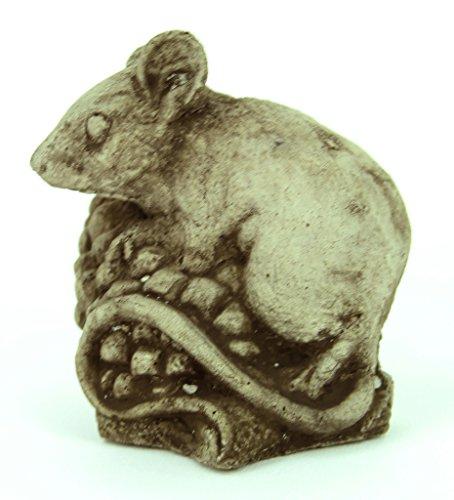 Mini Mouse Garden Statue Cement Figure Concrete Sculpture Mouse Cast Stone ()