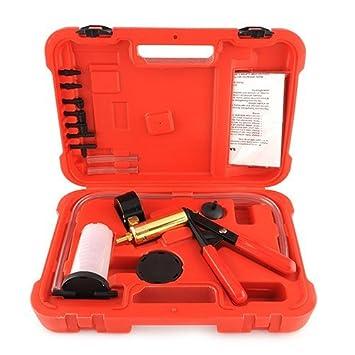 Amzdeal® - Kit de bomba de vacío manual para purga de frenos y embrague del coche o la motocicleta, sistema hidráulico: Amazon.es: Electrónica
