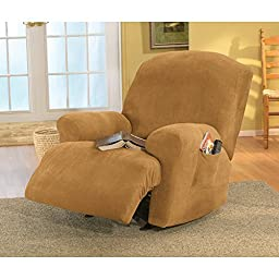 Sure Fit Stretch Pique - Recliner Slipcover  - Antique (SF29792)