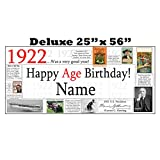 1922 DELUXE PERSONALIZED BANNER by Partypro