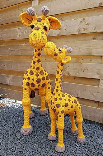 Mutter Giraffe 114cm Mit Baby Giraffe 70 Cm Amazon De Handmade