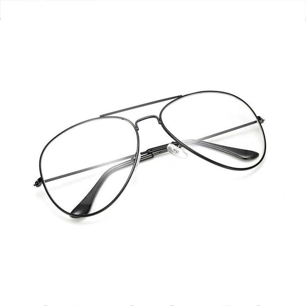 Z&YQ claro lente gafas aviador espejo miopía simple marco clásico gafas