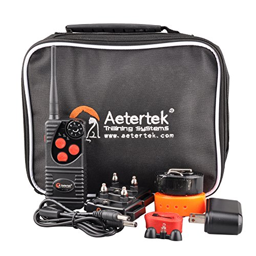 Aetertek Upgrade AT-216D 600 Yard Waterproof Rechargeable Remote Dog Training Shock Collar ,Beep ,Vibrate Stop Bark E Collar (For 2 dogs) by Aetertek (Image #5)