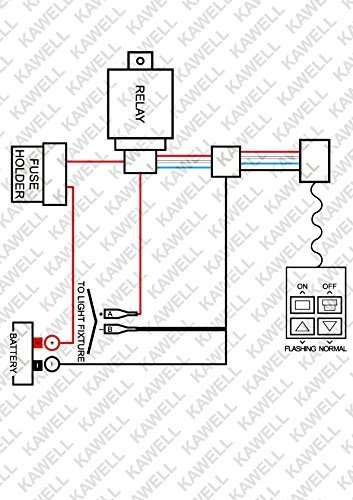 Kawell KAWELL Heavy Duty LED Light Bar Wiring Harness Kit with 14 AWG on
