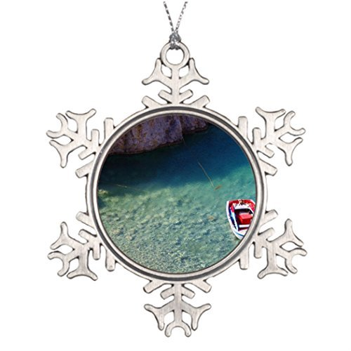 Metal Ornaments Ideas For Decorating Christmas Trees Boat Themed Small Floating Boat On The Crystal Cl Traditional Christmas Snowflake Ornaments