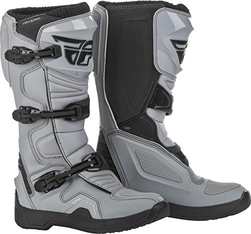 FLY Racing Maverik Boots for Motocross, Off-road, and ATV riding (SZ 11,GREY/BLACK)