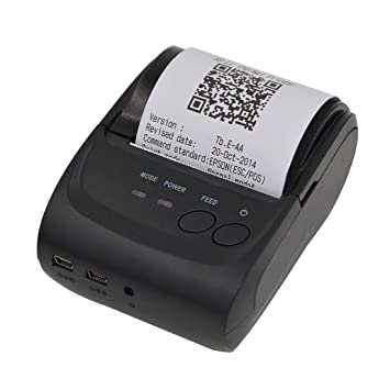 GzPuluz POS-5802 Impresora de Recibos Bluetooth de línea ...