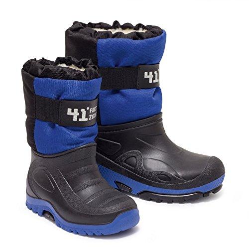 Zapato Europe Jungen Snowboot Stiefel mit TEFLON® blau/schwarz