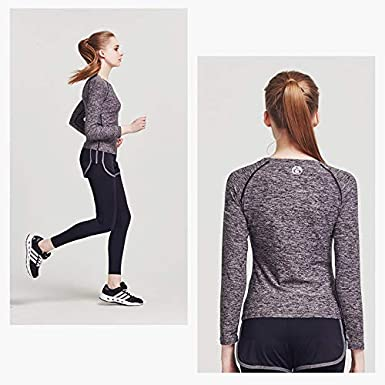 Miqieer Womens Compression Slimming Shirt Long Sleeve Dry Fit Running Athletic T-Shirt Workout Tops