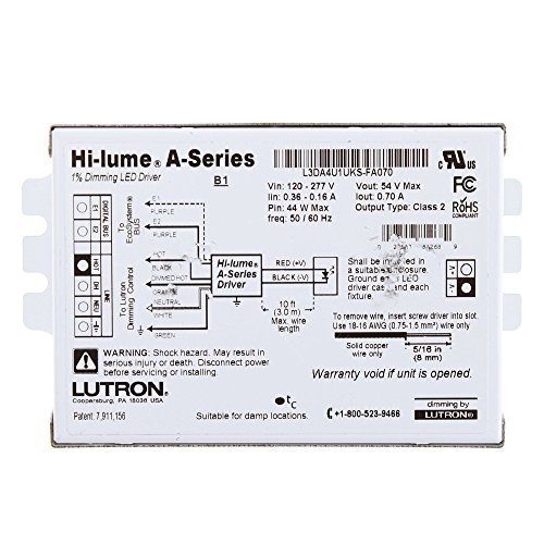 517zavUxV3L lutron l3da4u1uks fa070 hi lume a series led 1% architectural lutron hi lume a series wiring diagram at gsmx.co