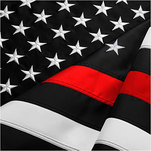 Cheap FBNC Thin Red Line Flag 3×5 Ft: Durable Nylon with Embroidered Stars and Brass Grommets – Proud to be a Fire Officer