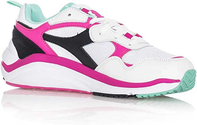 Diadora scarpe Whizz Run white fluo fuchsia electric gr 42 1