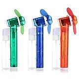 Wdnba Carabiner Water Misting Fan Portable Mini Fan 3 Piece Set Cool Squeeze Spray Fan