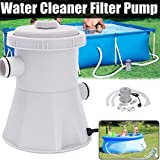 Vanvler { Swimming Pool Filter Pump } 110V Electric Swimming Pool Filter Pump For Above Ground Pools Cleaning Tool US (Gray)