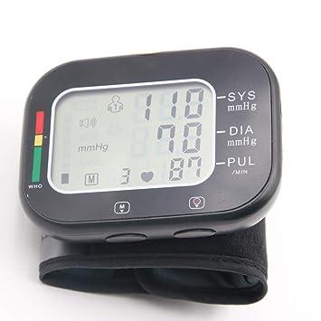 YHMMOO Tensiómetro de Muñeca para Uso Doméstico con Detección de Pulso Arrítmico y Gran Pantalla LCD Función de Voz,Black: Amazon.es: Deportes y aire libre