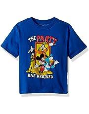 MICKEY MOUSE Boys MYSDAD6-02T The Party Short Sleeve T-Shirt - Blue