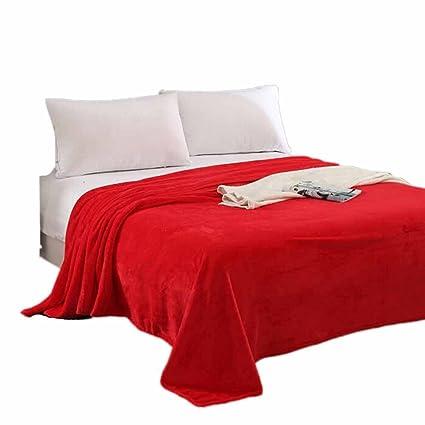 Red   Mumustar 70 100cm Soft Velvet Plush Blanket Throw Rug Sofa Bedding  Travel Cover 17fbcaebf