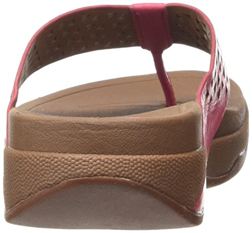 Fitflop Leather Lattice Surfa - Sandalias Mujer Rosa - Pink (Bubblegum 202)
