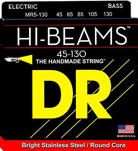 - DR Strings MR5-130 Hi-Beam Stainless Steel Medium 5-String Bass Strings