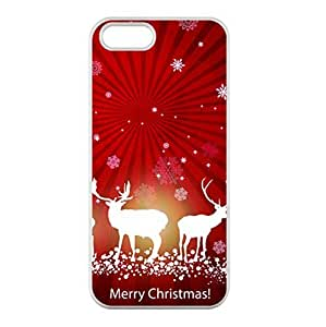 iPhone 5/5S only Case Xmas Two Deer Laser Technology
