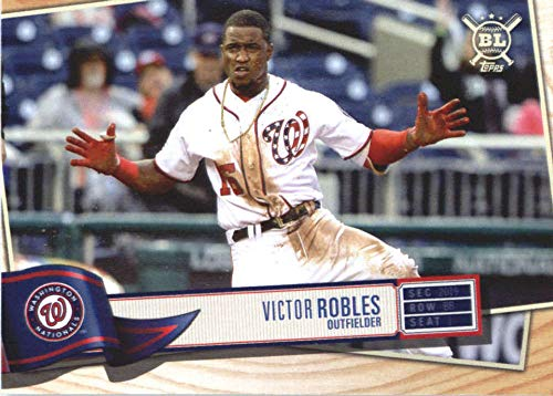 2019 Big League Baseball #183 Victor Robles Washington Nationals Official MLB Trading Card From Topps (Washington Mlb Card Nationals)