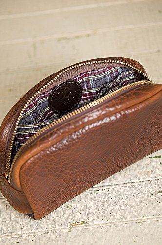 American Bison Leather Medium Travel Kit by Overland Sheepskin Co (Image #6)