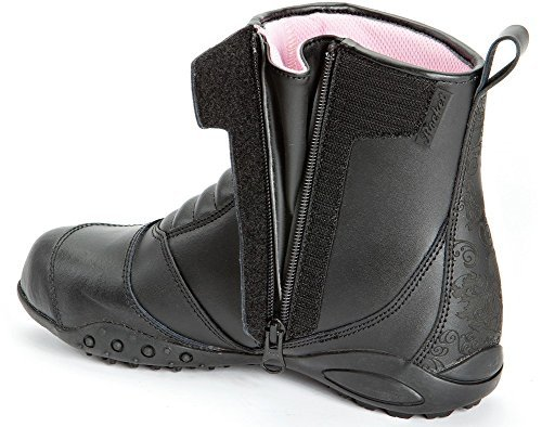 Joe Rocket Trixie - Womens Leather Motorcycle Boot - Black - 10