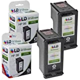 LD © Remanufactured Replacement Ink Cartridges for Hewlett Packard C8767WN (HP 96) High-Yield Black (2 Pack)