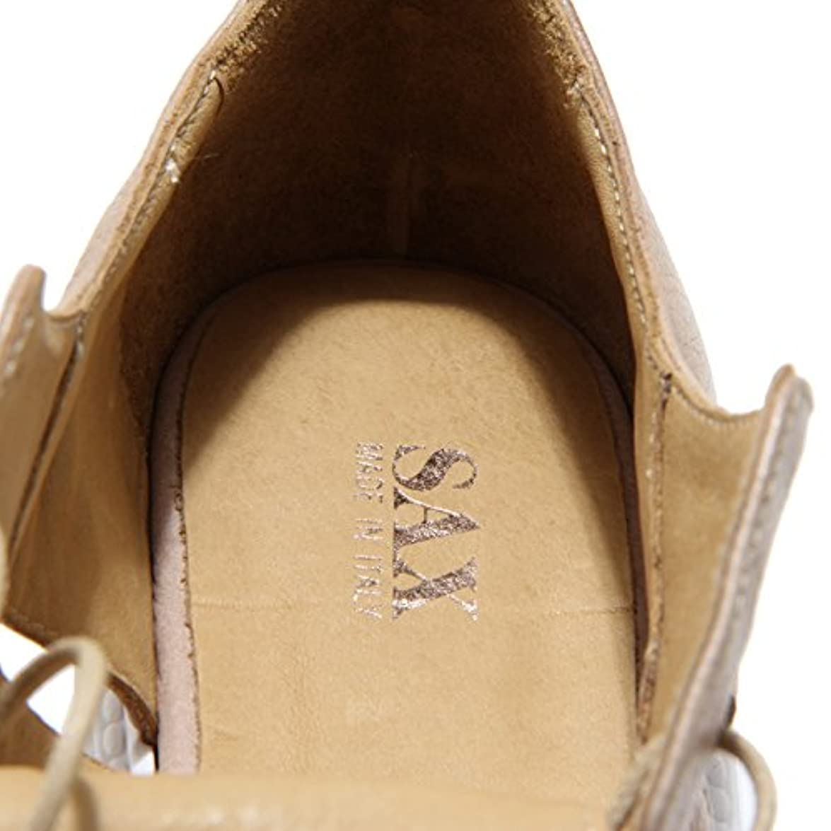 Sax 2587n Scarpa Allacciata Scarpe Donna Shoes Women Beige