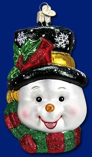 Old World Christmas Colorful Snowman Glass Ornament