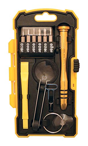 General Tools 660 iPhone Repair Kit for Smart Phones, Tablets & Other Electronic Devices, 17 piece - Gear Generals