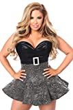 Daisy Corsets Women's Plus Size Top Drawer Embroidered Net Steel Boned Corset Dress, Black, 2X