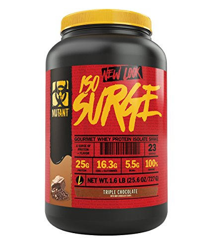 Mutant Iso Surge – A Premium High Quality Whey Protein Isolate With High Speed Absorption To Get Protein Into Your Muscle Tissue Fast. 13 Decadent Gourmet Flavors – Triple Chocolate Flavor For Sale