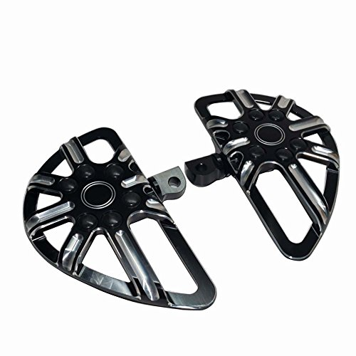 - Beautyexpectly Motorcycle CNC Black Aluminum Male Mount Foot Pegs Floorboard For Harley Sportster XL 883 1200