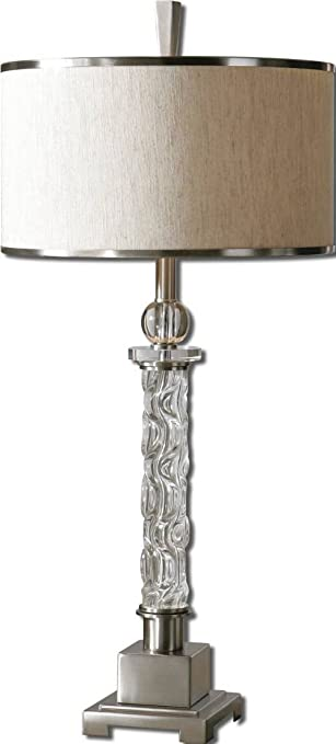 uttermost campania lamp carved glass base