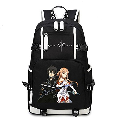 Siawasey Anime Sword Art Online Cosplay Backpack Daypack Bookbag Laptop Bag School Bag