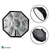LimoStudio 31'' Diameter Octagon Umbrella Reflector Softbox with Honeycomb Grid, External White Diffuser Cover Included, Photo Studio, AGG2543