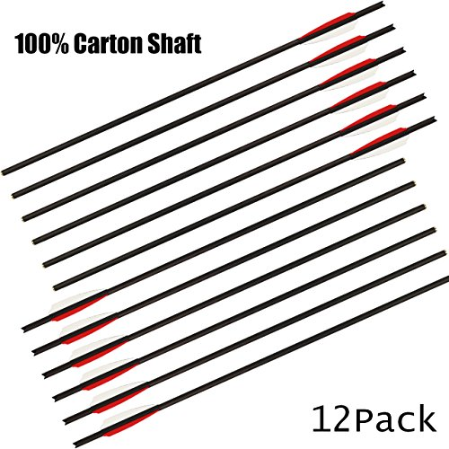 Neon Carbon Fiber Carbon - SinoArt Carbon Crossbow Bolts 20 Inch Crossbolt Arrows 100% Carbon Fiber Shaft with 3