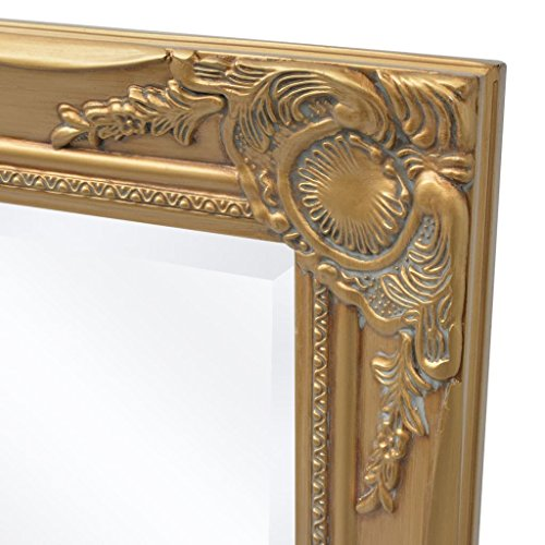 BLXCOMUS Wall Mirror Baroque Style 39.4''x19.7'' Gold mirror With four mounting hooks by BLXCOMUS (Image #3)