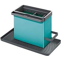 Metaltex Spoelbak-organizer, turquoise, 24 x 12,5 x 14 cm