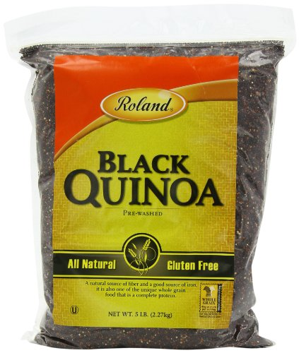 Roland Black Quinoa, Prewashed, 5 lbs. Bags (Pack of 2)
