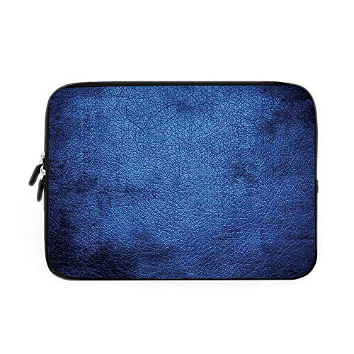 Navy Blue Decor Laptop Sleeve Bag,Neoprene Sleeve Case/Martian Alien Skin Like Dark Blue Contemporary Interesting Design Art Print/for Apple MacBook Air Samsung Google Acer HP DELL Lenovo ASU